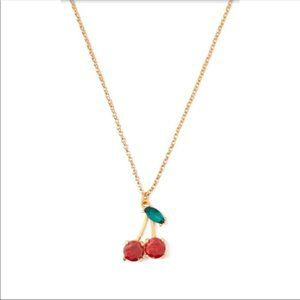 Kate Spade 12k Gold-Plated Cherry Crystal Necklace